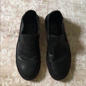Vince Black Leather Loafers Size 6.5